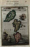 Cyclades Greece Aegean Sea Kea Kythnos Serifos 1683 Mallet charming small map