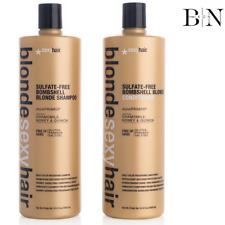 SEXY HAIR BLONDE BOMBSHELL BLONDE SHAMPOO 1000ML & CONDITIONER 1000ML + PUMPS