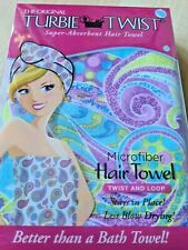 Original TURBIE TWIST Microfiber Hair Towel Colorful Paisley w/ Tapered Design