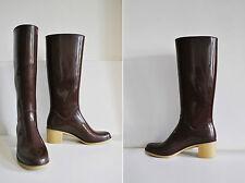 ROMIKA Vintage Langschaft 40 Absatz Rubber Rigon Boots Gummistiefel Stiefel 80er
