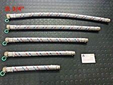 TUBO FLESSIBILE INOX ANTIVIBRANTE AUTOCLAVE DA 3/4 MF DA 30 40 50 60 70 CM ITALY
