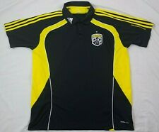 Adidas Mens Polo Shirt MLS Columbus Crew SC Soccer XL Short Sleeve Canary Kit