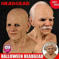 Latex Old Man Mask Male Disguise Cosplay Costume Halloween Party Realistic 2021