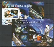 ST137 2015 GUINEA SPACE 25TH ANNIVERSARY HUBBLE TELESCOPE KB+BL MNH