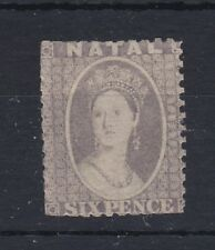 Natal 1859 - 64 6D Grey Mint No Gum Spacefiller RB99