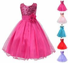 Bilo Lovely Sequin Little Girl Flower Dress, 5 Colors, 2T-8