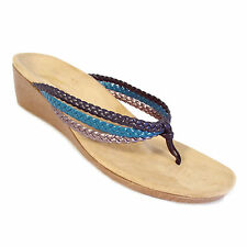 VIONIC Ramba Orthoheel Multicolor Braided Thong Wedge Sandals EU 41 / US 10