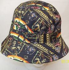 ceb64bdf2040c Crooks Castles Apparition Mens Black Gold Chains Cherubs Bucket Hat Rare  1588