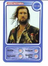 CARTE COLLECTOR DISNEY PIXAR AUCHAN 2010 157 JAMES NORRINGTON PIRATES CARAIBES