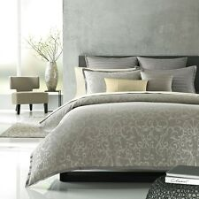 Hudson Park Natalya Cotton Cashmere STANDARD Pillow Sham GREY Bedding $110 I4071