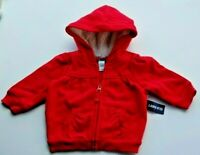 Old Navy Baby Girl's Red Hoodie, Fleece Lined Hood. Size 3-6 Months