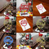 Happy Birthday Cake Topper Acrylic Letter Gold Silver for Kids Party Wedding B>s