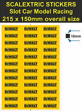 Slot car Scalextric sticker Model Race DeWALT tool Logo decal adhesive vinyl YT3