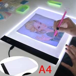 A4 LED Drawing Board Tracing Light Box Tattoo Arts Stencil UltraThin LED Light