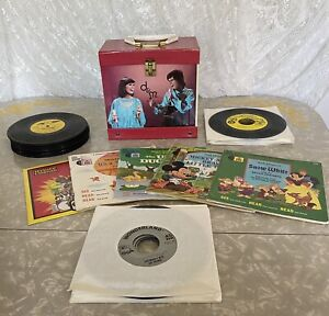 Donny and Marie 45 RPM Record Carrying Case 1977 Osbro with Children's Records