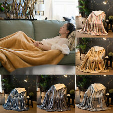 1 PC Bedspreads Sofa Double-layer Soft Cover Blanket Thick Coral Cashmere Winter