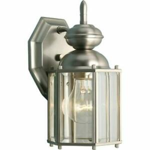 Progress Lighting P5756 Brass Guard 1 Light Outdoor Wall Sconce - Nickel