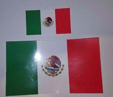 "MEXICAN Flag Vinyl Decal Sticker 5""X 3"" & 2.5"" X 1.5"" Set of (2) MEXICO MX"