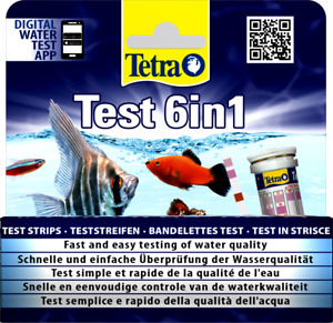 Tetra 6 in 1 Test Strips - Aquarium Water Tests for Freshwater Tropical Tanks