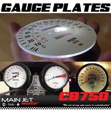 Honda CB750 CB Cafe Racer Gauge Face Plates Decal Overlay Applique Clocks Plate