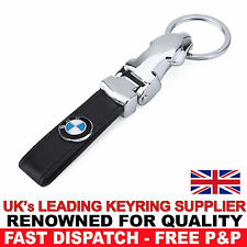 Black Leather Fob Keyring Keychain for BMW 1 2 3 4 5 6 7 8 Series M3 M4 5 6 7 8