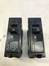 Set of Two Murray Circuit Breakers Mp120 / 1 Pole 20 Amp 120 / 240 Volt Mp-T
