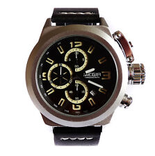 Naval 48mm Canteen CHRONOGRAPH Military Army Aviators Steel Boat Sub TW U
