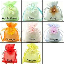Organza Decor Flower Gift Bag Wedding Party Favor Packaging Drawstring Pouch