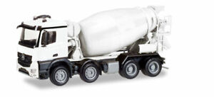 Mercedes Actros Cement Mixer Truck Minikit HO 1/87 Scale Plastic KIT Herpa 13147