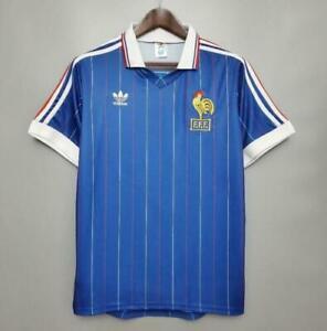 France retro shirt 1982 home jersey S-2XL
