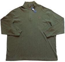 Men's POLO RALPH LAUREN Green Mock Zip Sweater 4XLT 4XT TALL NWT Estate Rib $98