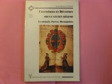 livre  histoire de la religion       CONFRERIES ET DEVOTION ANCIEN REGIME