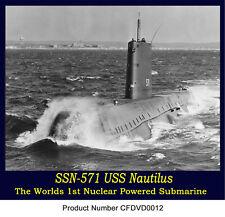 5-Navy Early Nuclear Submarine Films Nautilus Polaris
