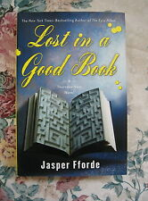 LOST IN A GOOD BOOK - JASPER  FFORDE (2003) 1st Signed WITH POSTCARD