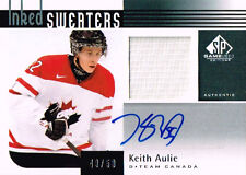 11-12 SP Game Used INKED SWEATERS xx/50 Made! Keith AULIE Team CANADA