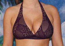 New Victorias Secret Beach Sexy Plum Crochet Halter Bikini Top S Small
