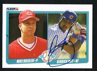 Derrick May #645 signed autograph auto 1990 Fleer Baseball Trading Card