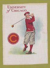 1910 Lg Murad tobacco silk S21 University Of Chicago Golfer - Golf Tough