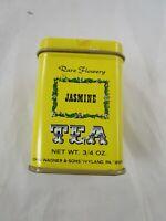 John Wagner Sons Tin Container Yellow Jasmine Tea 3/4 oz Empty