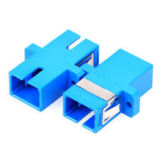 10 pcs alot SC/UPC-SC/UPC Singlemode Simplex Fiber Optic Shuttered Adapter Blue