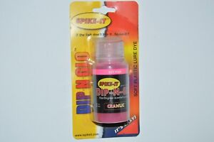 spike-it dip-n-glo dye for soft plastic lures worms 2 oz  hot pink crawlic