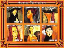 [37579] SUP||**/Mnh || - Mozambique 2001 - ND/Imperf, Amadeo Modigliani, Art, Pe