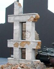 "Dioramas Plus 1/35 ""Small Ruins"" Ruined German Building Corner Section WWII DP4"