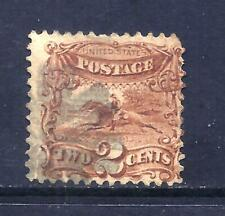 US Stamps - #113  - USED - 2 cent 1869 Pictorial Issue - CV $80