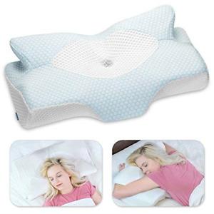 6378 Elviros Cervical Contour Memory Foam Pillow for Orthopaedic Neck Pain