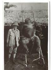 More details for big game hunter postcard c1920 real photo gorilla africa pith helmet