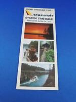 TRANSAIR AIRLINE SYSTEM TIMETABLE APRIL 1977 ADVERTISING THINK TRANSAIR FIRST