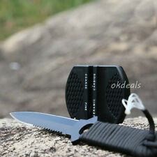 Smart Mini Ceramic Rod Tungsten Steel  Camp Pocket Kitchen Knife Sharpener Tool
