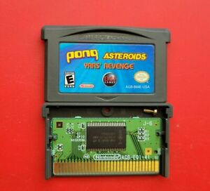 Pong Asteroids Yars' Revenge 3 in 1 Game Boy Advance Atari Classics *Fast Ship*