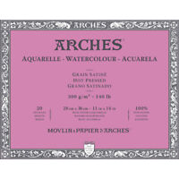 "Arches Watercolor Block 11""""x14"""", 140lb Hot Press, 20 Sheets"